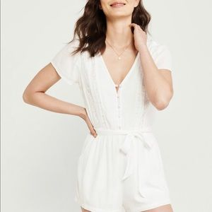 Abercrombie & Fitch White Romper
